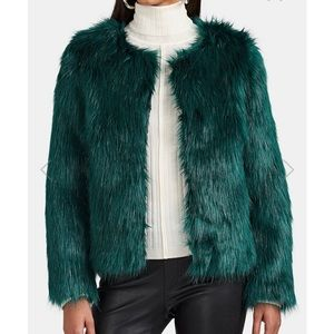 Barney's faux fur cropped jacket